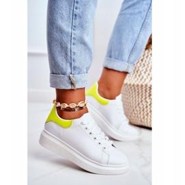 Sportowe Damskie Buty Lu Boo Białe Matilda żółte 3