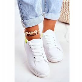 Sportowe Damskie Buty Lu Boo Białe Matilda żółte 1