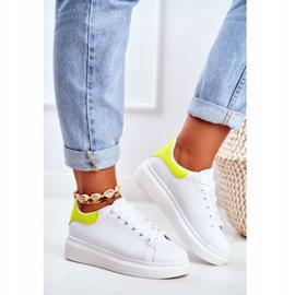 Sportowe Damskie Buty Lu Boo Białe Matilda żółte 2