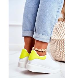 Sportowe Damskie Buty Lu Boo Białe Matilda żółte 4