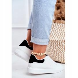 PS1 Sportowe Damskie Buty Białe z Czarnym Zapiętkiem Milly czarne 1