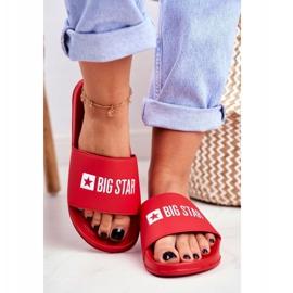 Klapki Damskie Big Star Czerwone GG274041 3