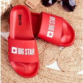 Klapki Damskie Big Star Czerwone GG274041 5