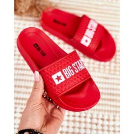 Klapki Dziecięce Big Star Czerwone Pikowane GG374801 3