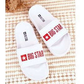 Klapki Dziecięce Big Star Białe Pikowane GG374803 3