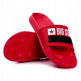Klapki Męskie Big Star Klasyk Czerwone GG174939 2