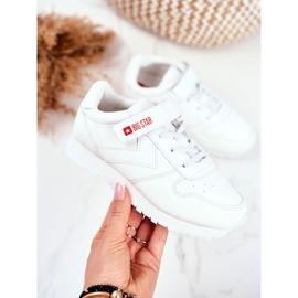 Sportowe Buty Dziecięce Big Star Na Rzepy Białe GG374057 2
