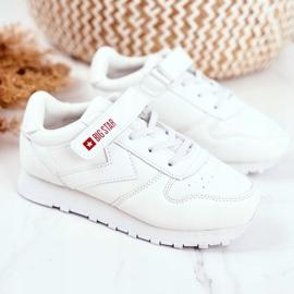 Sportowe Buty Dziecięce Big Star Na Rzepy Białe GG374057 1