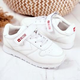 Sportowe Buty Dziecięce Big Star Na Rzepy Białe GG374057 3