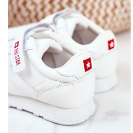 Sportowe Buty Dziecięce Big Star Na Rzepy Białe GG374057 4