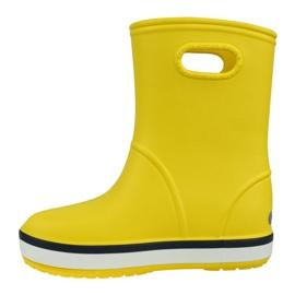 Kalosze Crocs Crocband Rain Boot Kids 205827-734 czerwone żółte 1