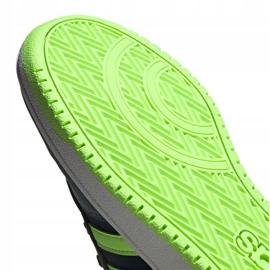 Buty adidas Hoops 2.0 Jr FW3171 czarne granatowe zielone 1