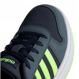 Buty adidas Hoops 2.0 Jr FW3171 czarne granatowe zielone 2