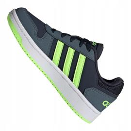 Buty adidas Hoops 2.0 Jr FW3171 czarne granatowe zielone 3