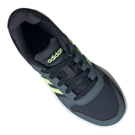 Buty adidas Hoops 2.0 Jr FW3171 czarne granatowe zielone 5