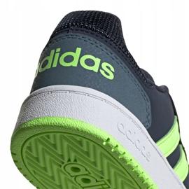 Buty adidas Hoops 2.0 Jr FW3171 czarne granatowe zielone 6