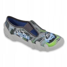 Befado obuwie dziecięce 290Y210 szare zielone 1