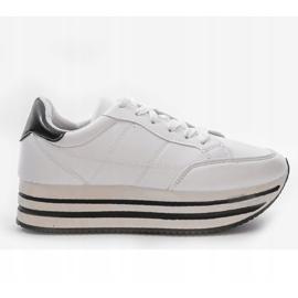 Białe modne damskie obuwie sportowe 230-3 2