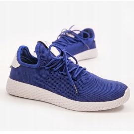 Niebieskie obuwie sportowe F04-5 1