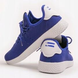 Niebieskie obuwie sportowe F04-5 2