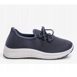 Granatowe wsuwane obuwie sportowe LR005-4 1