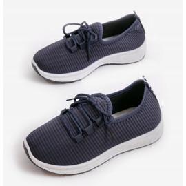 Granatowe wsuwane obuwie sportowe LR005-4 2