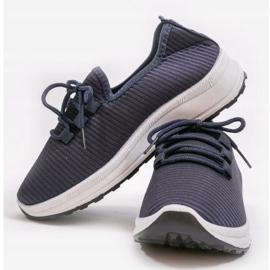 Granatowe wsuwane obuwie sportowe LR005-4 3