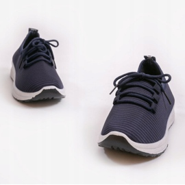 Granatowe wsuwane obuwie sportowe LR005-4 4