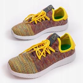 Wielokolorowe obuwie sportowe F04-3 4