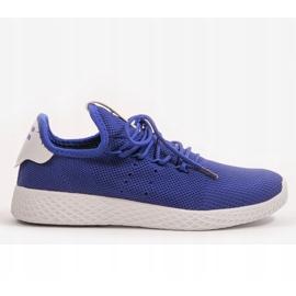 Niebieskie obuwie sportowe F04-5 4