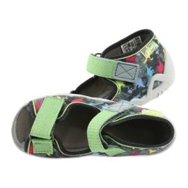Befado obuwie dziecięce 250P092 szare wielokolorowe zielone 5