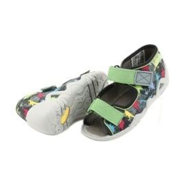 Befado obuwie dziecięce 250P092 szare wielokolorowe zielone 4