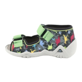 Befado obuwie dziecięce 250P092 szare wielokolorowe zielone 2