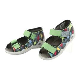 Befado obuwie dziecięce 250P092 szare wielokolorowe zielone 3