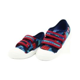 Befado obuwie dziecięce 907P114 czerwone granatowe niebieskie wielokolorowe 3