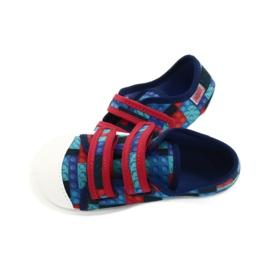 Befado obuwie dziecięce 907P114 czerwone granatowe niebieskie wielokolorowe 5