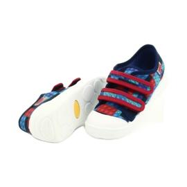 Befado obuwie dziecięce 907P114 czerwone granatowe niebieskie wielokolorowe 4