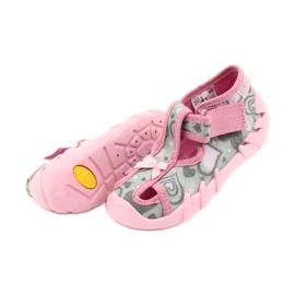 Befado obuwie dziecięce 190P084 szare różowe 6