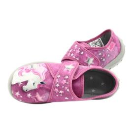 Befado obuwie dziecięce 560X118 różowe 5