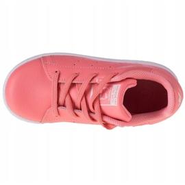 Buty adidas Stan Smith El K EF4928 różowe szare 2