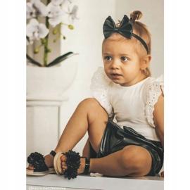 FRROCK Dziecięce Sandałki Na Rzep Świecące Czarne Milena 5