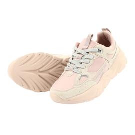 Buty sportowe Hell Rosa Big Star GG274655 beżowy różowe szare 5
