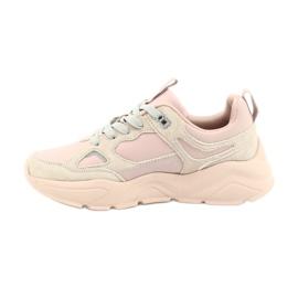 Buty sportowe Hell Rosa Big Star GG274655 beżowy różowe szare 3
