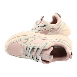 Buty sportowe Hell Rosa Big Star GG274655 beżowy różowe szare 6