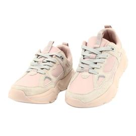 Buty sportowe Hell Rosa Big Star GG274655 beżowy różowe szare 4