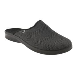 Befado obuwie męskie pu 548M016 szare 2