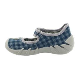 Befado obuwie dziecięce 109P188 niebieskie szare 2