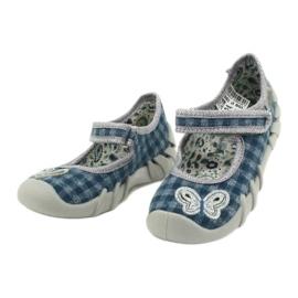 Befado obuwie dziecięce 109P188 niebieskie szare 3