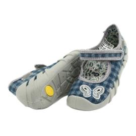 Befado obuwie dziecięce 109P188 niebieskie szare 4