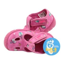 Befado  obuwie dziecięce 533P010 różowe 5